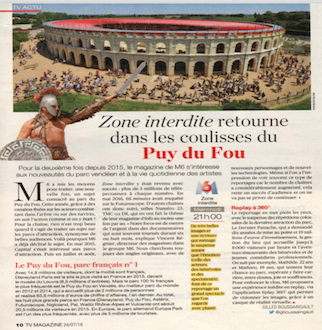 Zone Interdite returns behind the scenes at Puy du Fou