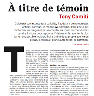 A titre de témoin – Interview Tony Comiti  – Paroles de Corse